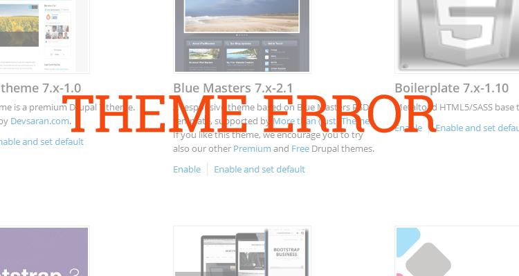 Bagaimana Mengganti Theme Drupal Tanpa Masuk Ke Website?